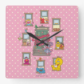 Window Vintage Art Square Wall Clock