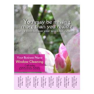 Window washing business glossy promo tear sheet full colour flyer
