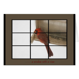 window with view stationery note card