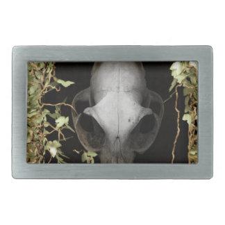 Windows and green animal bone2 belt buckle