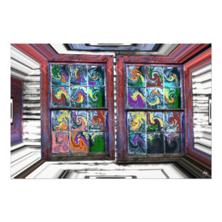 Windows at an Exhibition Open Edition Print