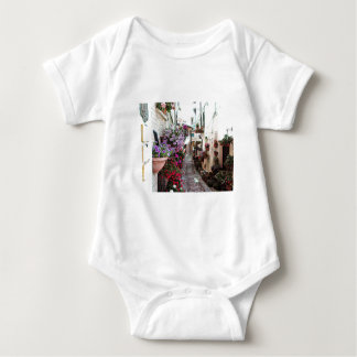 Windows, balcony and flower alleys in Spello Baby Bodysuit