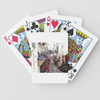 Windows, balcony and flower alleys in Spello Bicycle Playing Cards