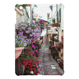 Windows, balcony and flower alleys in Spello iPad Mini Cover