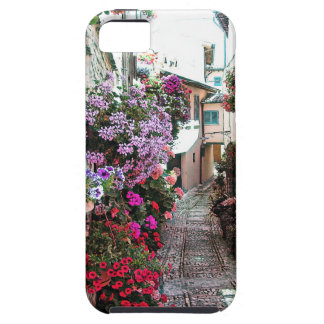 Windows, balcony and flower alleys in Spello iPhone 5 Covers