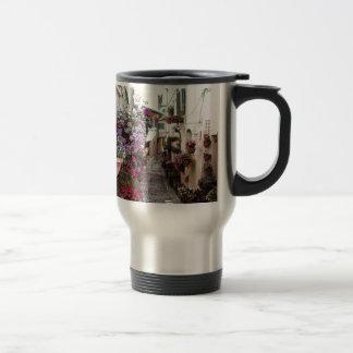Windows, balcony and flower alleys in Spello Travel Mug