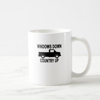 windows down COUNTRY UP Coffee Mug