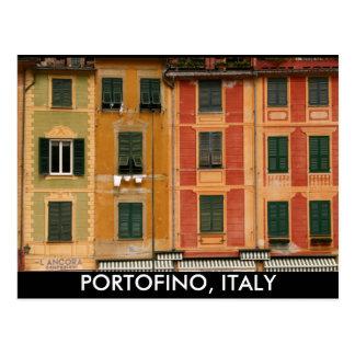 Windows in Portofino, Italy Postcard