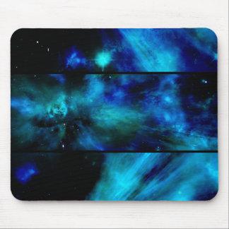 Windows to a Blue Space Nebula Mouse Pad