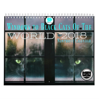 Windows To Black Cats Of the World 2018 Calendar
