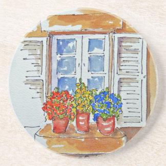Windowsill Cheer on Sandstone Coasters