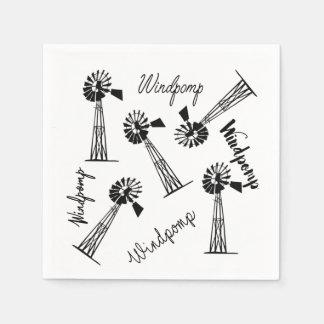 Windpomp en woorde paper napkin