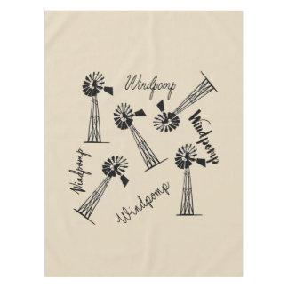 Windpomp en woorde tablecloth