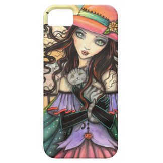 Winds of Halloween Witch Cat Fantasy Art iPhone 5 Cover