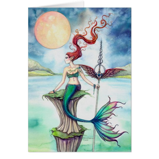 Winds of Ireland Mermaid Fantasy Art Card