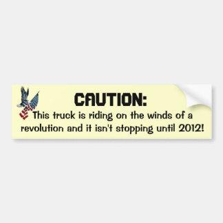 Winds of revolution bumper sticker