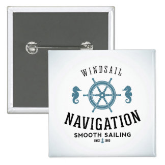 Windsail Navigation Poster 2 Inch Square Button