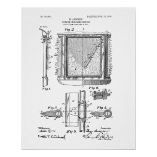 Windshield Wipers, Mary Anderson, Inventor Poster