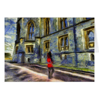 Windsor Castle and Coldstream Guard Art Card
