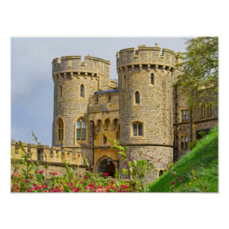 Windsor castle at spring time poster