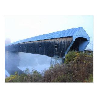 Windsor Cornish Covered Bridge in Fog Postcard