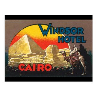 Windsor Hotel Cairo_Vintage Travel Poster Artwork Postcard