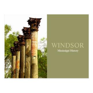 Windsor - Mississippi History Postcard
