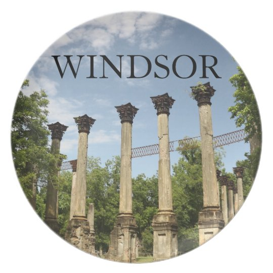 Windsor Ruins Mississippi Dining Plate