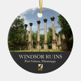 Windsor Ruins overview Christmas Ornament