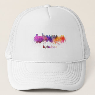Windsor skyline in watercolor trucker hat