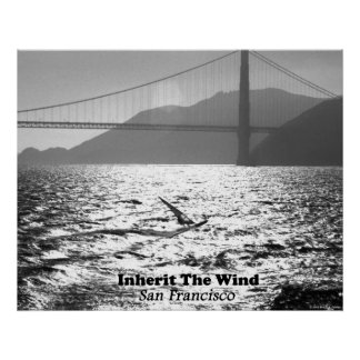Windsurfer on San Francisco Bay Poster