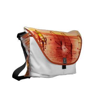 Windsurfers on Horizon Messenger Bag