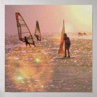 Windsurfers Poster Print
