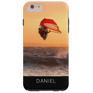 Windsurfing At Sunset Surfer Personalised Custom Tough iPhone 6 Plus Case