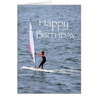 Windsurfing Birthday Card