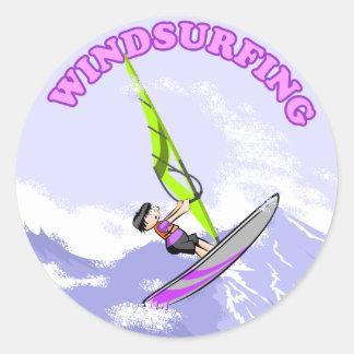 Windsurfing Cartoon Sticker - 1