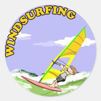 Windsurfing Cartoon Sticker - 4