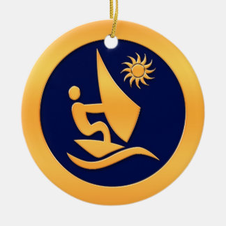 Windsurfing Ceramic Ornament