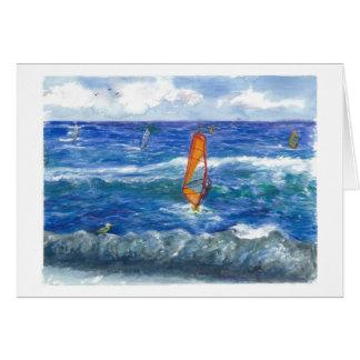 Windsurfing in Hawaii Card