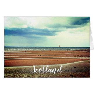 Windsurfing in Scotland, greeting card