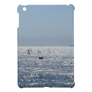 Windsurfing in the sea . Windsurfers silhouettes iPad Mini Covers