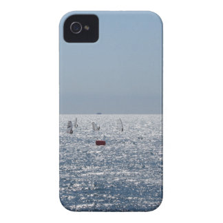 Windsurfing in the sea . Windsurfers silhouettes iPhone 4 Cover