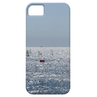 Windsurfing in the sea . Windsurfers silhouettes iPhone 5 Covers