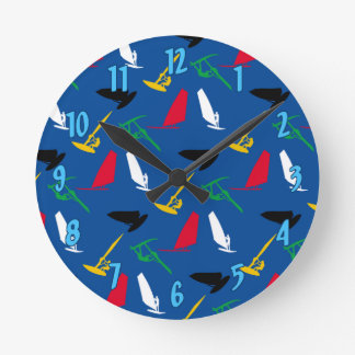 Windsurfing Round Clock