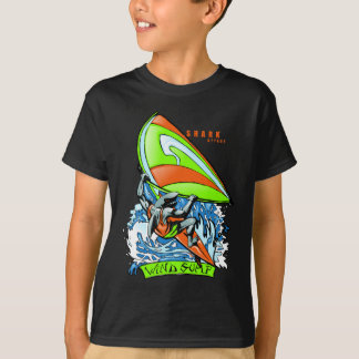 Windsurfing Shark Attack T-Shirt