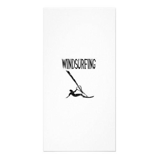 windsurfing v3 black text sport windsurf windsurfe photo card