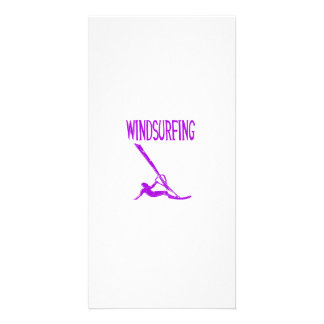 windsurfing v3 purple text sport copy.png photo greeting card