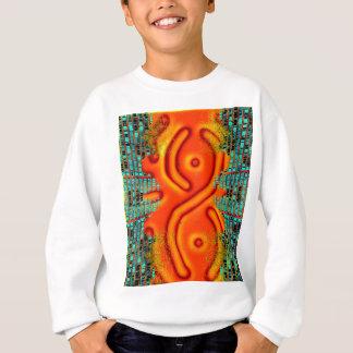 Windswept Extreme Design Orange Urban Futurism Sweatshirt