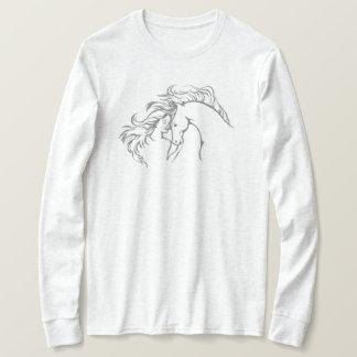 Windswept Girl & Horse Women's Long Sleeve T-Shirt