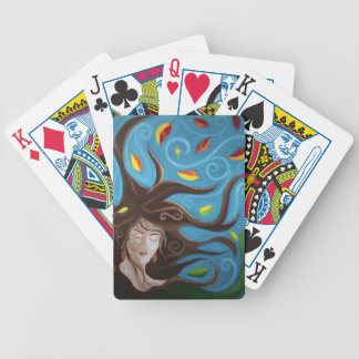 Windy Day Bicycle Playing Cards